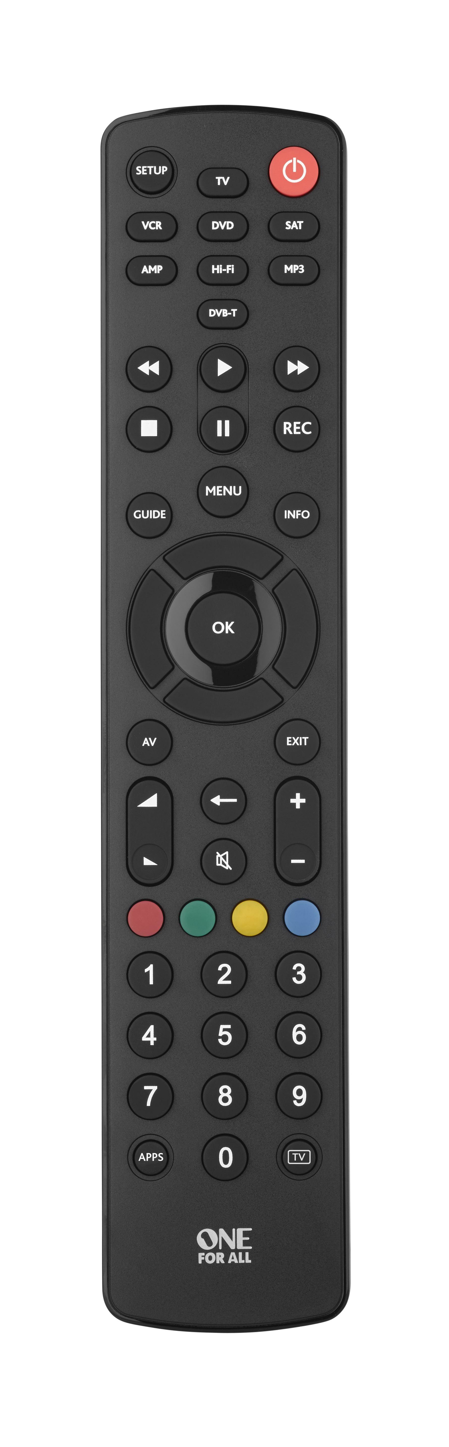 Contour 8 One For All URC1280 negro Mando a distancia universal para controlar 8 aparatos